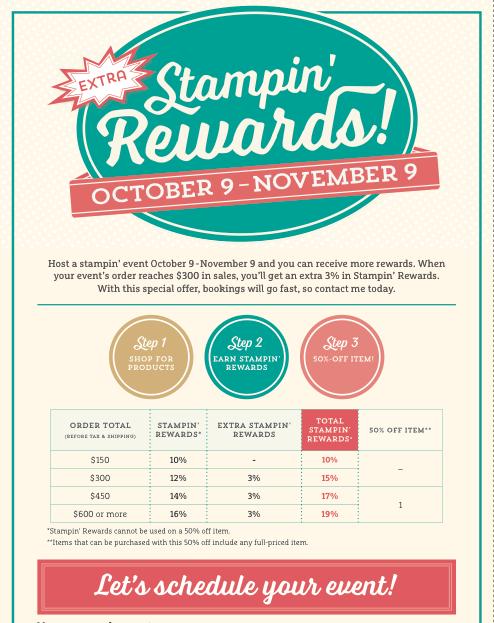 Bonus Hostess Rewards Chart
