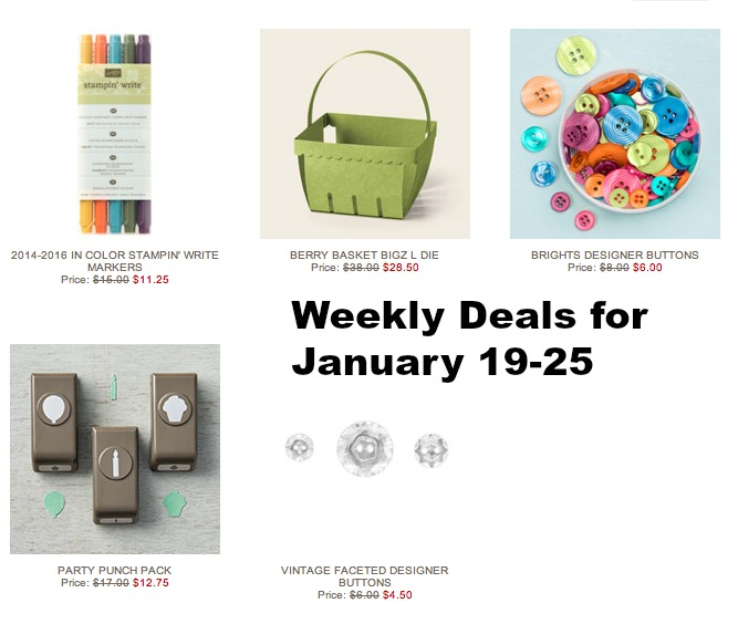 Weekly Deals Jan 19-25